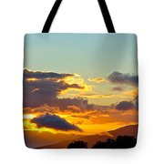 Clouds With Colors Tote Bag