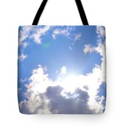 Clouds With Sunshine Tote Bag