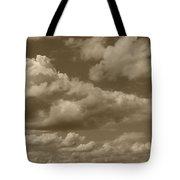 Cloudscape In Sepia Tote Bag