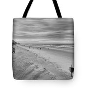 Cloudy Beach Morning Tote Bag