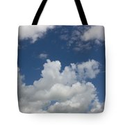 Cloudy Blue Sky Tote Bag