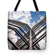 Cloudy Building Tote Bag