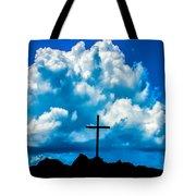 Cloudy Cross Tote Bag