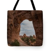 Cloudy Day At Pine Tree Arch Tote Bag