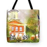 Cloudy Day At The Courthouse Tote Bag