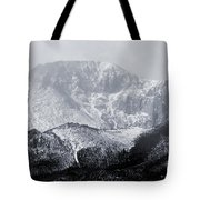 Cloudy Misty Pikes Peak Tote Bag