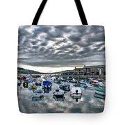 Cloudy Morning - Lyme Regis Harbour Tote Bag