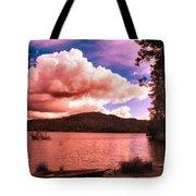 Cloudy Skies Over Scotts Flat Lake Tote Bag
