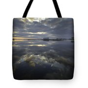 Cloudy Terrys Cove Tote Bag