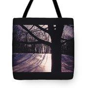 Clove Lakes Park In Winter Tote Bag