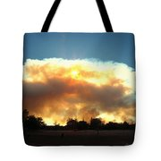 Clover Fire At 5 25 Pm Tote Bag