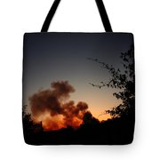 Clover Fire At Night Tote Bag