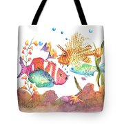 Clown To My Left Tote Bag