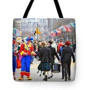 Clowns And Tartans Tote Bag