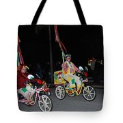 Clowns On Bikes Tote Bag