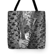 Cluster- Black And White Tote Bag