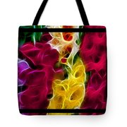 Cluster Of Gladiolas Triptych  Tote Bag