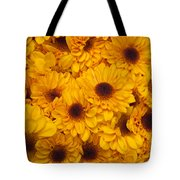 Cluster Of Yellow Blooms Tote Bag