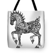 Clydesdale Foal - Zentangle Tote Bag