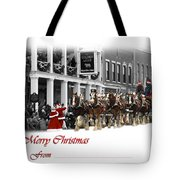 Clydesdale  Team Christmas Card Tote Bag