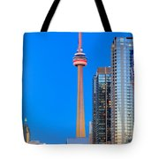 Cn Tower By Night Tote Bag