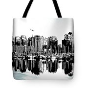 Vancouver Canada Coal Harbour Centre Panel Tote Bag