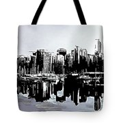 Vancouver  Canada Coal Harbour Triptych Left Panel Tote Bag