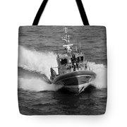 Coast Guard In Black And White Tote Bag