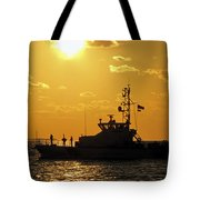 Coast Guard In Paradise - Key West Tote Bag