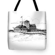 Coast Guard Station 2 Ocracoke 1970s Tote Bag