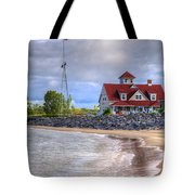 Coast Guard Station In Muskegon Tote Bag
