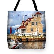 Coast Guard Station On Muskegon Lake Tote Bag