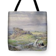Coast Scene With Children In The Foreground, 19th Century Tote Bag