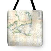 Coast Survey Map Of Cape Cod Nantucket And Marthas Vineyard Tote Bag