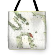 Coast Survey Map Of San Francisco Bay And City Tote Bag