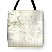 Coast Survey Nautical Chart Or Map Of Nantucket Massachusetts Tote Bag