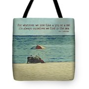 Coastal Beach - E.e. Cummings Sea Quote Tote Bag