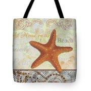 Coastal Decorative Starfish Painting Decorative Art By Megan Duncanson Tote Bag