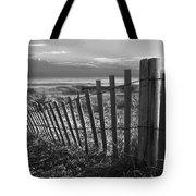 Coastal Dunes In Black And White Tote Bag