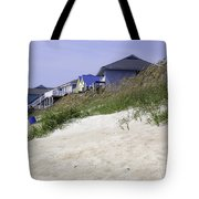 Coastal Living In Topsail Beach Nc Tote Bag