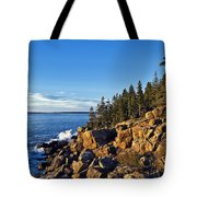 Coastal Maine Landscape. Tote Bag