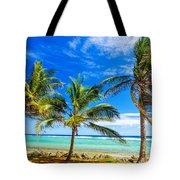 Coastal Palm Trees Tote Bag