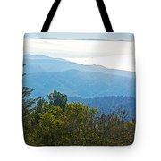 Coastal Range And Clouds From West Point Inn On Mount Tamalpias-california Tote Bag