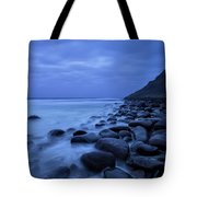 Coastal Rocks In Water At Unstad Beach Tote Bag