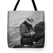 Coastal Salmon Fishing Tote Bag