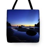 Coastal Sunset Skies Reflection Tote Bag