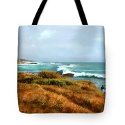 Coastal Waves Roll In To Shore Tote Bag