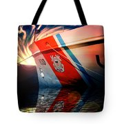 Coast Guard Uscg Alert Wmec-630 Tote Bag by Aaron Berg