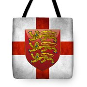 Coat Of Arms And Flag Of England Tote Bag