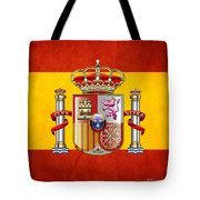 Coat Of Arms And Flag Of Spain Tote Bag